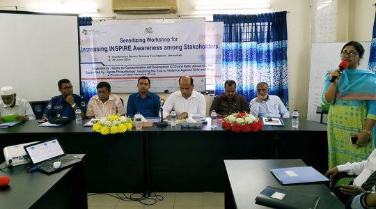 Sensitizing Workshop for Increasing INSPIRE Technical Package has been arranged in Jhenaidah