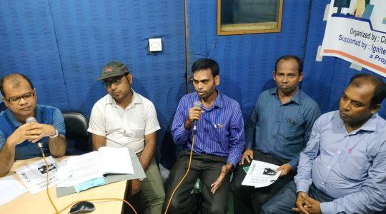 "Special Live Radio Talk Show named ""Open Sky"" has broadcast through Radio Sagor Giri 99.2 FM"