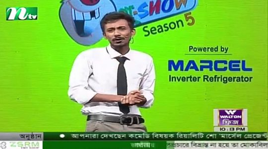 Mahfuz Arefeen has been performing in the popular Comedy Show of NTV