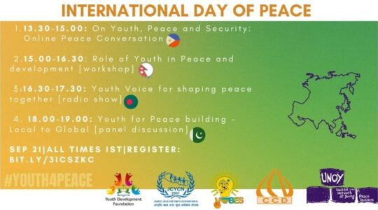 06 amazing youth-led peacebuilding organisations from 6 countries are collaborating to celebrate International Day of Peace together