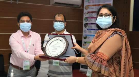 Station Manager of Radio Padma 99.2 FM Shahana Parveen has been awarded recently by Farming Future Bangladesh